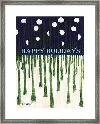 Happy Holidays 2 Framed Print by Patrick J Murphy