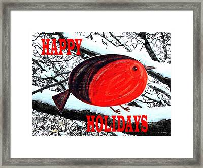 Happy Holidays 20 Framed Print by Patrick J Murphy