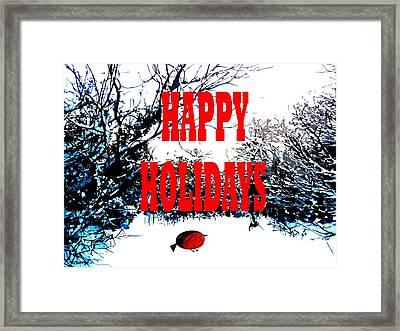 Happy Holidays 23 Framed Print by Patrick J Murphy