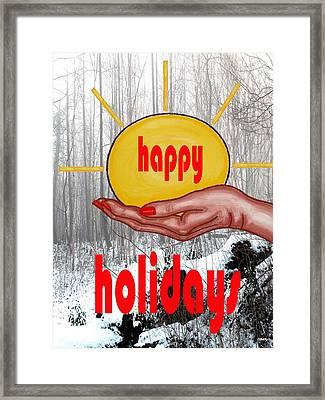 Happy Holidays 26 Framed Print by Patrick J Murphy