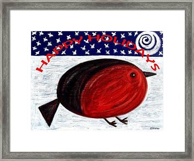 Happy Holidays 3 Framed Print by Patrick J Murphy