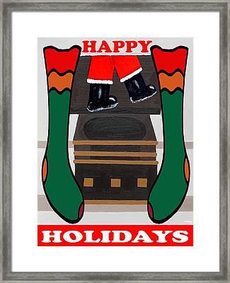 Happy Holidays 4 Framed Print by Patrick J Murphy