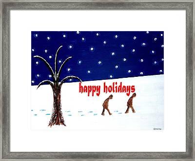 Happy Holidays 5 Framed Print by Patrick J Murphy