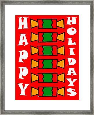 Happy Holidays 7 Framed Print by Patrick J Murphy