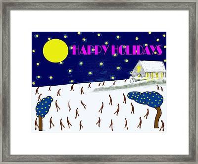 Happy Holidays 80 Framed Print by Patrick J Murphy