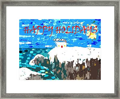 Happy Holidays 90 Framed Print