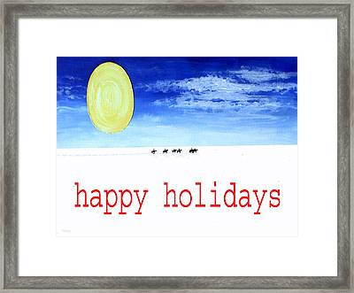 Happy Holidays 92 Framed Print
