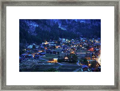 Framed Print featuring the photograph Happy Holidays From Japan by Peter Thoeny