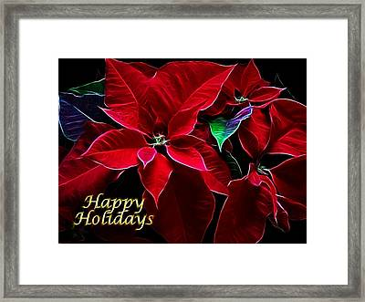 Happy Holidays Framed Print by Sandy Keeton
