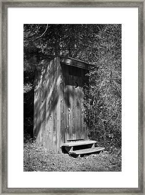 Happy Hollow Outhouse Framed Print