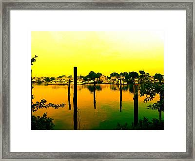 Happy Homes Framed Print