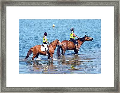 Happy Horses And Their Riders Framed Print by Terri Waters