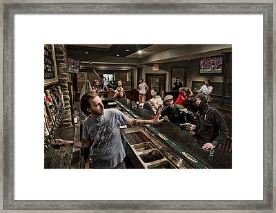 Happy Hour 2 Framed Print by Anthony Benussi
