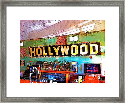 Framed Print featuring the photograph Happy Hour At The Hollywood Cafe by T Lowry Wilson