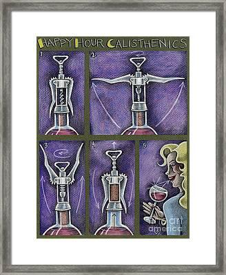 Happy Hour Calisthenics Framed Print