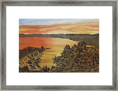 Framed Print featuring the painting Happy Hour by Joel Deutsch