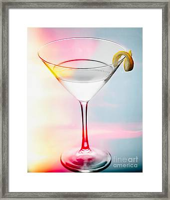 Happy Hour Martini Framed Print by George Oze