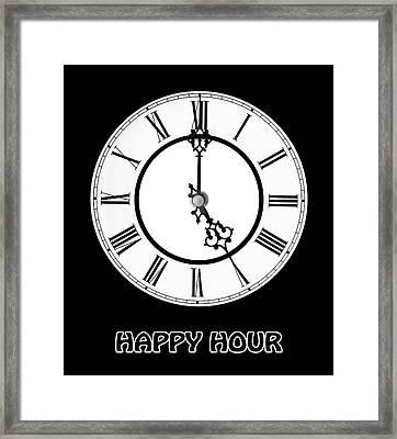 Happy Hour - On Black Framed Print by Gill Billington