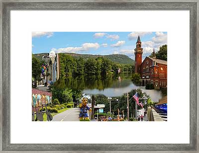 Happy In Easthampton Collage Framed Print