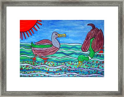 Happy In The Pond. Framed Print by Patricia Fragola