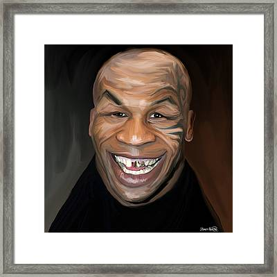 Happy Iron Mike Tyson Framed Print