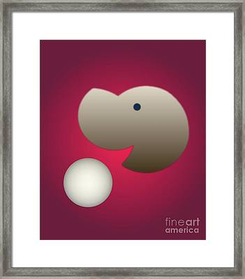 Framed Print featuring the digital art Happy by John Krakora