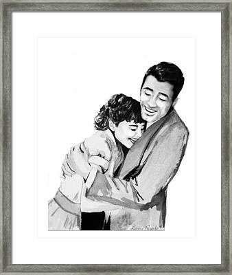 Happy Framed Print by Laura Rispoli