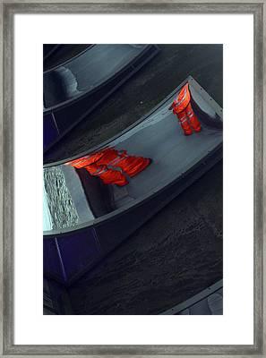 Happy Legs Framed Print by Jez C Self