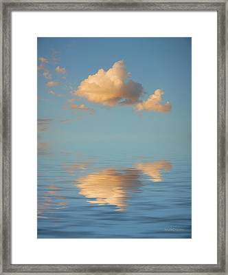 Happy Little Cloud Framed Print by Jerry McElroy