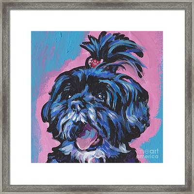 Happy Little Shihtzy Framed Print