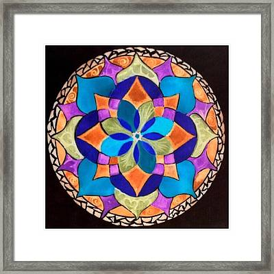 Happy Mandala  Framed Print