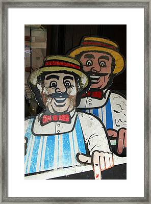 happy meat Makers Framed Print by Jez C Self