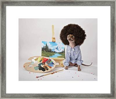 Happy Meowstakes Framed Print by Brooke Arnold