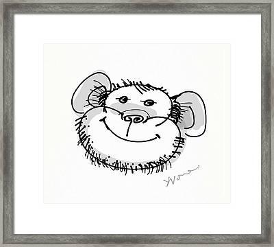 Happy Monkey Framed Print by Yvonne Wright
