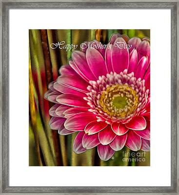 Happy Mother's Day Card 1 Framed Print by Nina Silver