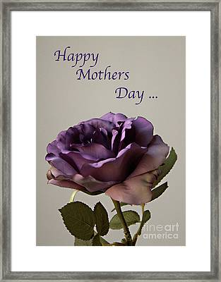 Happy Mothers Day No. 2 Framed Print by Sherry Hallemeier