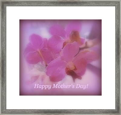 Happy Mother's Day Orchids Framed Print