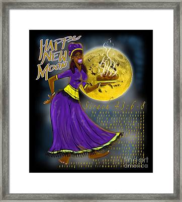 Happy New Moon Sirach 43 Framed Print