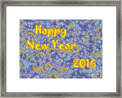 Happy New Year 2016 Framed Print