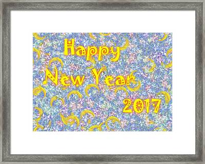 Happy New Year 2017 Framed Print by Jean Bernard Roussilhe