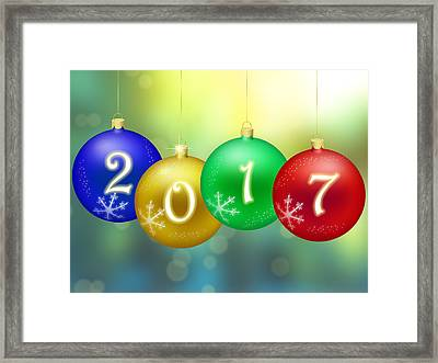 Happy New Year 2017 Framed Print by Miroslav Nemecek