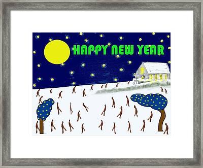 Happy New Year 79 Framed Print by Patrick J Murphy