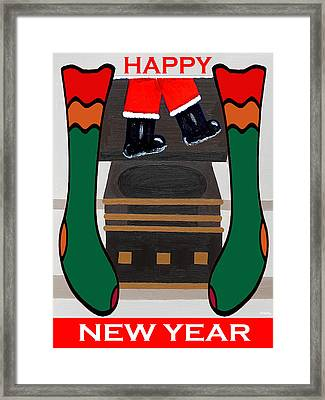 Happy New Year 8 Framed Print by Patrick J Murphy
