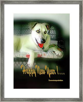 Happy New Year Art  Framed Print
