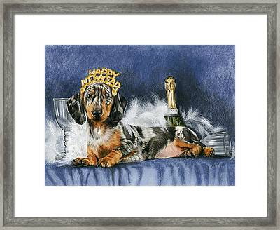 Framed Print featuring the mixed media Happy New Year by Barbara Keith