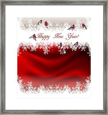 Happy New Year Card 1 Framed Print by Irina Effa