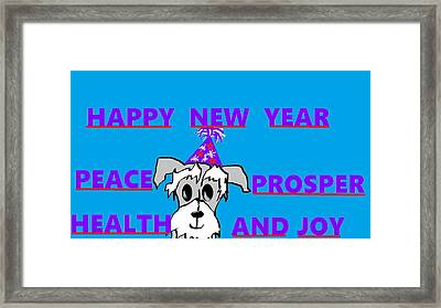 Happy New Year Framed Print by Linda Velasquez