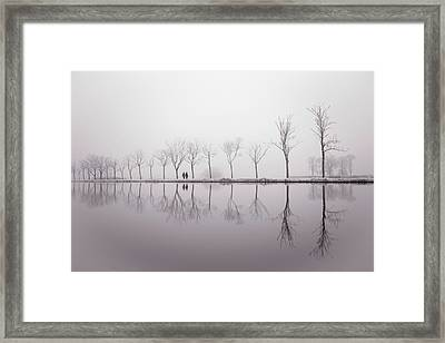 Happy New Year - Reflections Framed Print