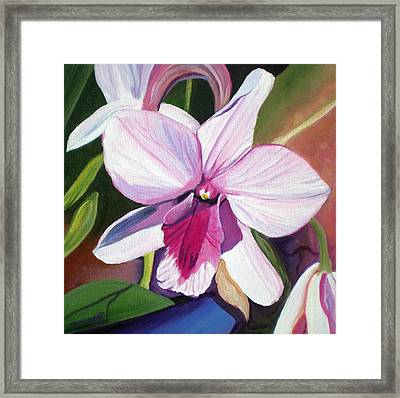 Happy Orchid Framed Print