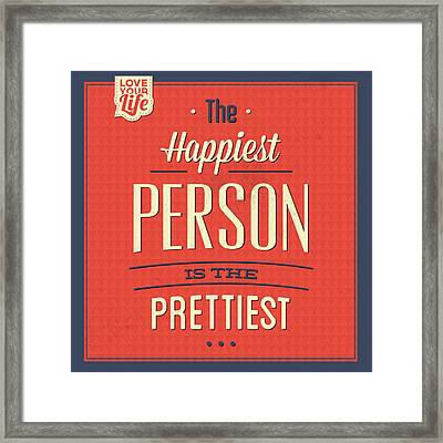 Happy Person Framed Print by Naxart Studio